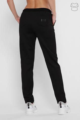 Черные женские штаны на резинке большие размеры, фото 2