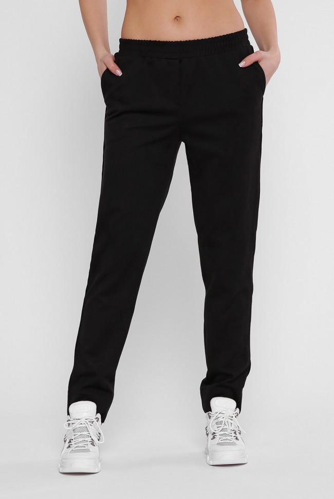 Стильные черные женские брюки осень-весна