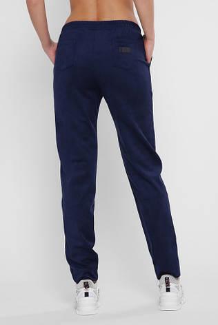 Женские синие замшевые штаны на резинке, фото 2
