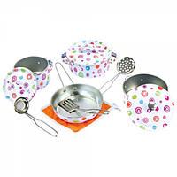 Детская посуда Набор игрушечной эмалированной посуды