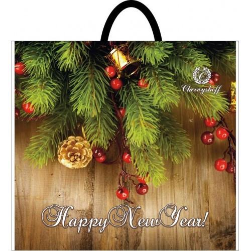 Новогодний пакет с петлевой ручкой 400*420 , 10 шт