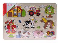 Детские пазлы для малышей Ферма goki 57995