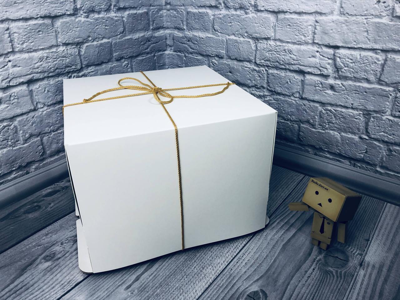 *10 шт* / Коробка с веревк / 260х260х200 / Белая / б.о. / для торт