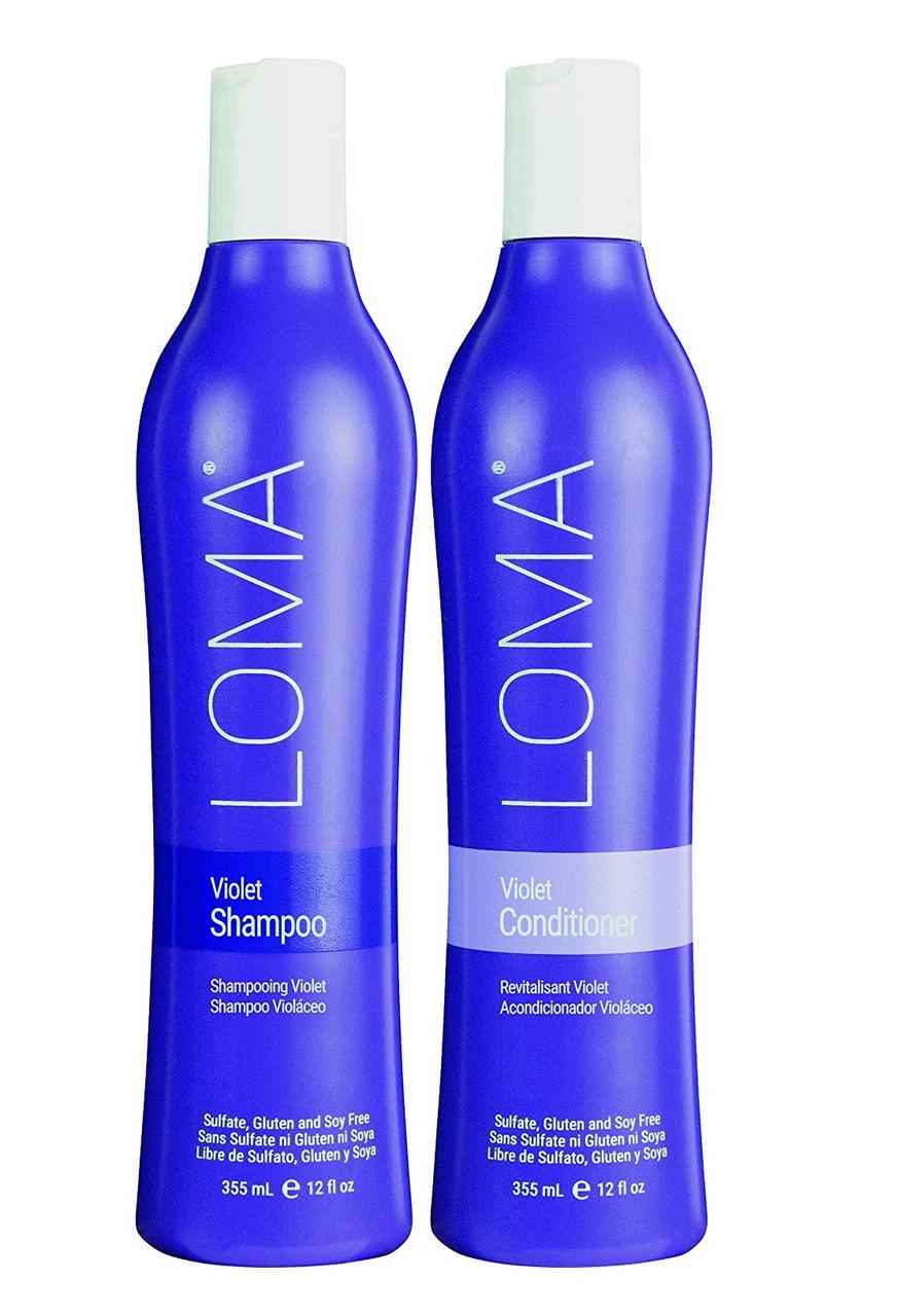 Набор фиолетовый для светлых волос шампунь и кондиционер Loma Violet