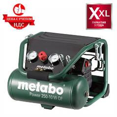 Безмасляный компрессор Metabo Power 250-10 W OF (1.5 кВт, 110 л/мин, 10 л)
