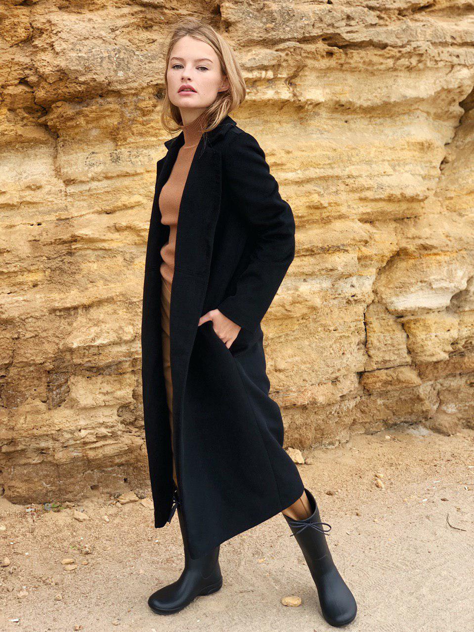 Пальто классика черное женское