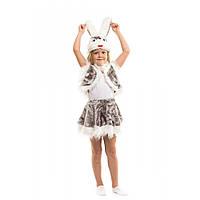 Детский костюм серый Зайчик для девочки на карнавал утренник