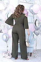 """Женский брючный комбинезон """"Sierra"""" с вырезами на плечах (большие размеры), фото 2"""