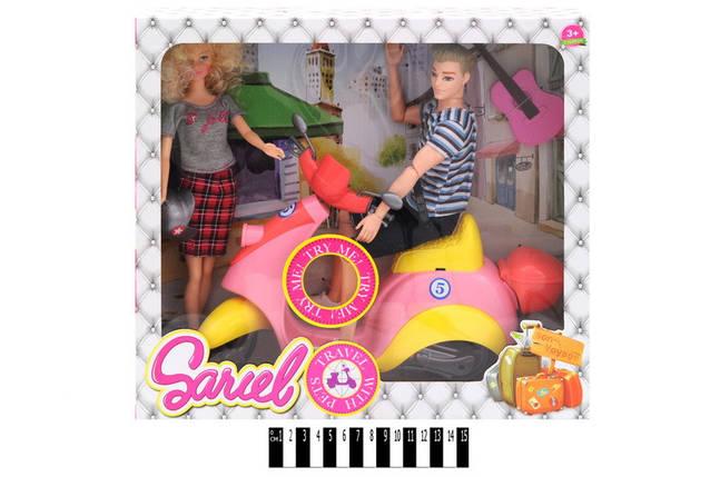 """Лялька """"Sariel"""" з Кеном на скутері муз в кор. 35,5*10*32,5см /18/, фото 2"""