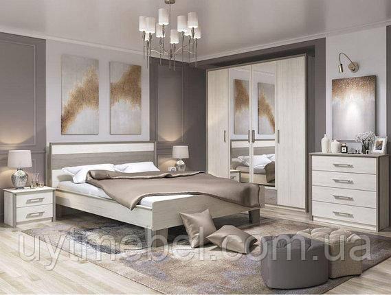 Ліжко Сара 1400х2000+ламель піно ауреліо/мадагаскар (СОМКЕ)
