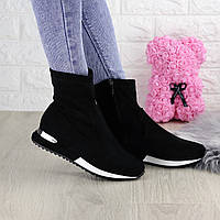 Женские чулочные черные кроссовки Kerry 1310