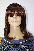 Парик из искусственных волос средней длинны каштановые