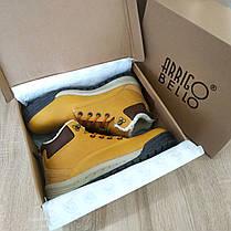Шкіряні зимові чоловічі черевики ARRIGO BELLO (Camel) світло коричневий 41р-46р високі черевики, фото 2