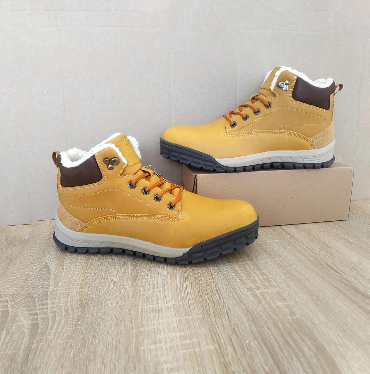 Шкіряні зимові чоловічі черевики ARRIGO BELLO (Camel) світло коричневий 41р-46р високі черевики