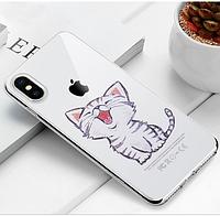 Прозрачный, силиконовый чехол  с качественным принтом для  iPhone 7