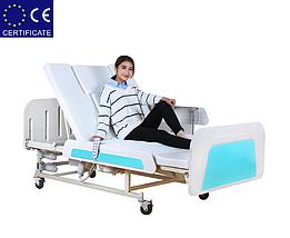 Медицинская функциональная кровать с туалетом E36. Большой размер. Кровать для инвалида. Кровать для лежачих., фото 2