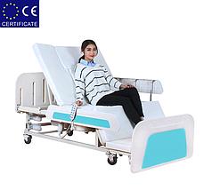 Медицинская функциональная кровать с туалетом E36. Большой размер. Кровать для инвалида. Кровать для лежачих., фото 3