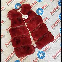 Подростковые меховые теплые и модные жилетки для девочек
