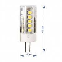 Лампа RIGHT HAUSEN LED Standard капсульная 3,5W 220V G4 6000K керам/пласт HN-157042