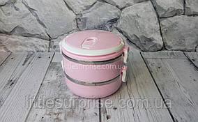 Ланч-бокс двойной Frico 1,4 л Розовый