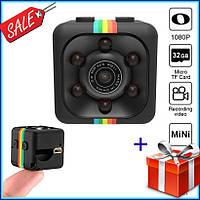 Мини камера SQ11 с датчиком движения и ночной съемкой, экшн камера, видео регистратор Full HD + подарок