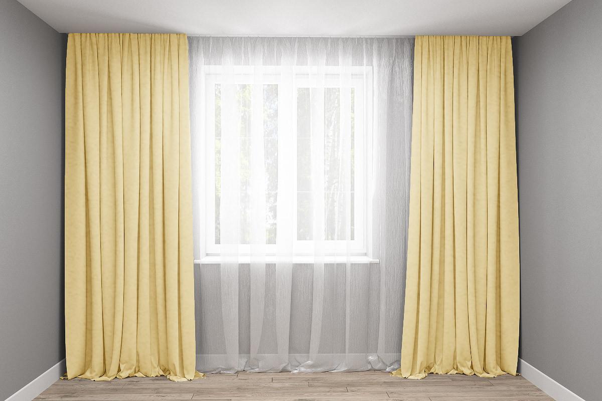 Комплект штор микровельвет Песок 250*270 2шт