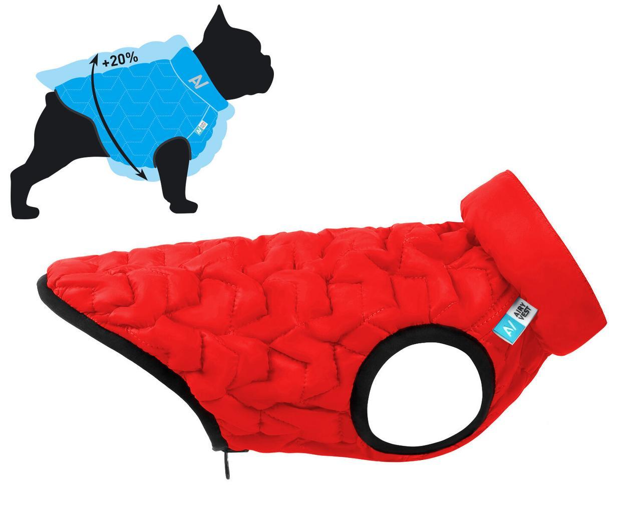 Куртка Airy Vest Uni S 38 жилет чорно-червоний одяг для собак