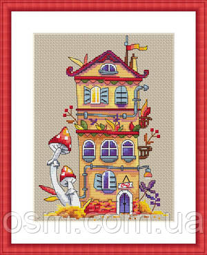 """Набор для вышивания крестом """"Осенний домик"""" Мережка"""