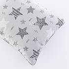 Плед и подушка с геометрическими звёздами серо-розового цвета, фото 3