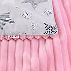 Плед и подушка с геометрическими звёздами серо-розового цвета, фото 4