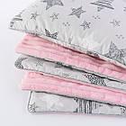 Плед и подушка с геометрическими звёздами серо-розового цвета, фото 5