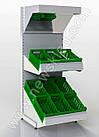 Стеллаж овощной торговый 1600х950 мм приставной Ристел, фото 4