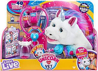 LittleLive Rainglow Unicorn VetSet - Interactive Pet Unicorn Интерактивный питомец Единорог и набор ветеринара