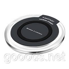 Бездротова зарядка для телефонів з підтримкою стандарту Qi Чорний