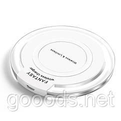 Бездротова зарядка для телефонів з підтримкою стандарту Qi Білий