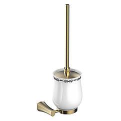 Туалетный ершик настенный Imprese Cuthna 150280 antiqua бронза