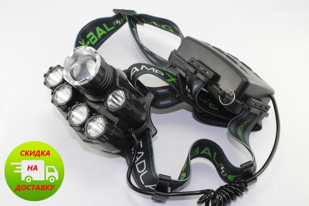 Мощный налобный фонарик  BAILONG BL-T78 (черный)
