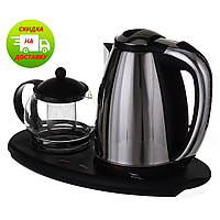 Электрочайник Domotec 1.8 л + чайник заварник 500 мл (DT-903)