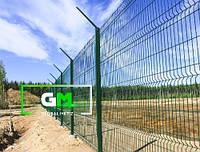 Секционный забор 2.4х2,5 м, 4/4 мм секционное сварное ограждение 3D