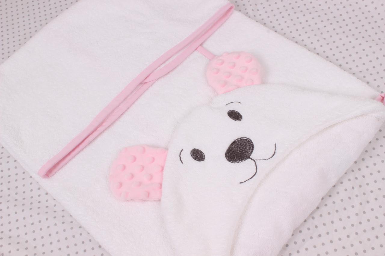 Полотенце для купания мишка детское белое