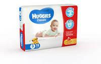Подгузник Huggies Classic №3 4-9 кг (хаггис классик) 1 шт