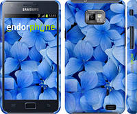 """Чехол на Samsung Galaxy S2 Plus i9105 Синие цветы """"526c-71"""""""