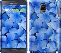 """Чехол на Samsung Galaxy Note 4 N910H Синие цветы """"526c-64"""""""
