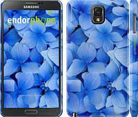 """Чехол на Samsung Galaxy Note 3 N9000 Синие цветы """"526c-29"""""""