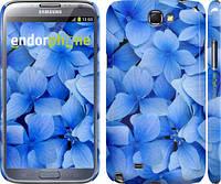 """Чехол на Samsung Galaxy Note 2 N7100 Синие цветы """"526c-17"""""""