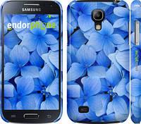 """Чехол на Samsung Galaxy S4 mini Синие цветы """"526c-32"""""""