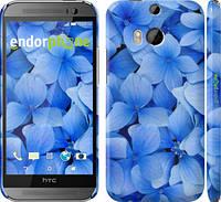 """Чехол на HTC One M8 Синие цветы """"526c-30"""""""