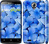 "Чехол на Lenovo S820 Синие цветы ""526c-52"""