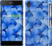 "Чехол на Sony Xperia Z2 D6502/D6503 Синие цветы ""526c-43"""