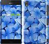 """Чехол на Sony Xperia Z3 dual D6633 Синие цветы """"526c-59"""""""
